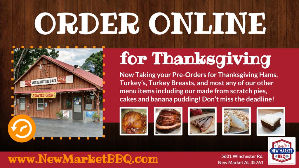 New Market BBQ Thanksgiving Turkeys