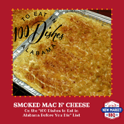 New Market BBQ Smoked Mac n' Cheese 100 Dishes to Eat in Alabama Before you Die