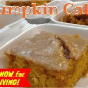 Pumpkin Cake with Apple Cider Glaze