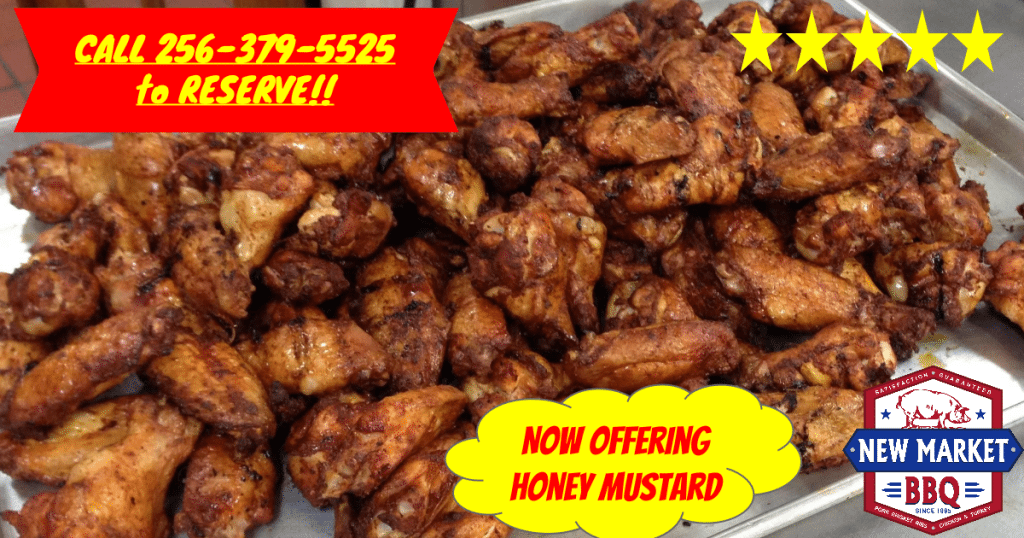 Smoked Wings Now offering Honey Mustard