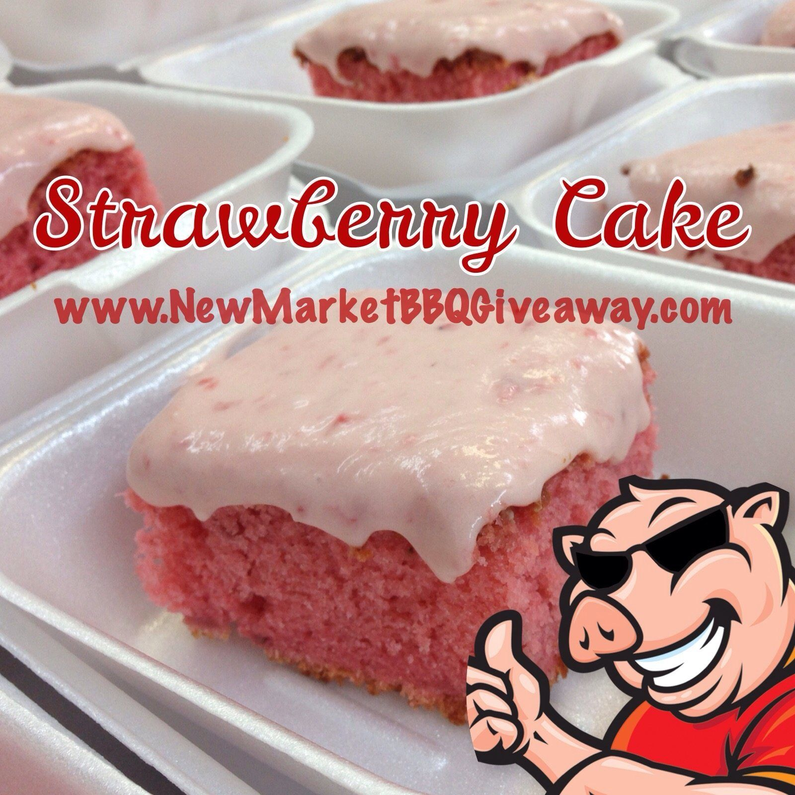 Strawberry Cake by New Market BBQ