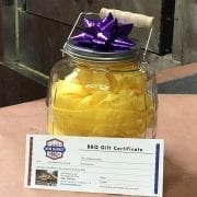 Gallon Glass jar with Gift Certificate
